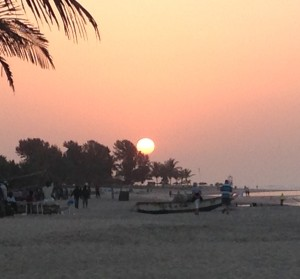Gambia beach sunset