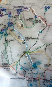Tatra Mountains route map, the white dotted one took about 5 hours