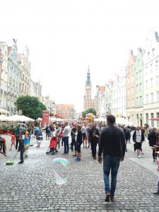 Crowds in Gdansk, Poland